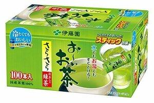 緑茶 100本 (スティックタイプ) 伊藤園 おーいお茶 抹茶入りさらさら緑茶 0.8g×100本 (スティックタイプ)