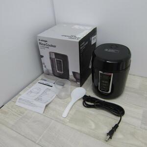 S9645【未使用】東京Deco 炊飯器 0.5~1.5合 小型 ミニ炊飯器 ブラック ライスクッカー i001