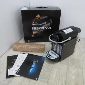 S9779【未使用】ネスプレッソ カプセル式コーヒーメーカー ピクシー ツー チタン 水タンク容量0.7L メタル素材 C61-TI -W