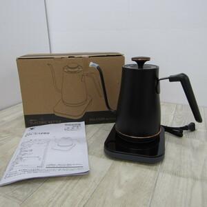 S10050【未使用】[山善] 電気ケトル 電気ポット 0.8L (消費電力 1200W / 温度設定機能/保温機能) ブラックブロンズ EGL-C1280(BB)