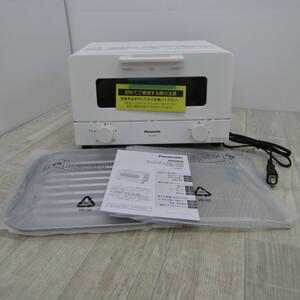 S10063【未使用】パナソニック オーブントースター 4枚焼き対応 30分タイマー搭載 ホワイト NT-T501-W