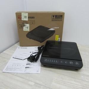 S10614【未使用】アイリスオーヤマ IHコンロ IHクッキングヒーター 1000W 卓上 デザイン IHK-T38-B ブラック