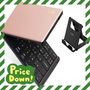ピンク/Pink Ewin 新型 日本語配列 キーボード ワイヤレス Bluetooth 折りたたみ式 かな入力 JIS配列 レ