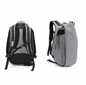 リュックサック 通勤 通学 メンズ バックパック 15.6 PC バック パソコン タブレット収納可能 新品 グレー(灰色)大容量