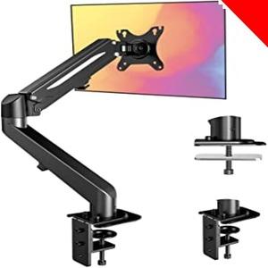 限定価格!黒 ErGear モニターアーム PCディスプレイアーム 13~27インチ 耐荷重1.5-6.5kg VESA規W9LL