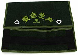 緑-3 1セット Utoolmart 作業用工具腰袋 電気ツールパック ウエストバッグ 釘袋+サポーター+ベルト ベルト付ォ
