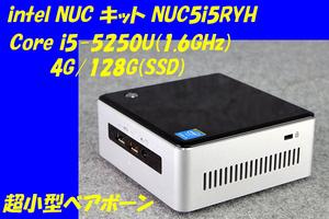 O●intel/超小型ベアボーン●NUC5i5RYH●Core i5-5250U(1.6GHz)/4G/128G(SSD)/MULTI/Win10●5