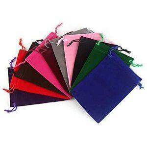 CCINEE ベルベット 巾着袋 ギフト ジュエリーポーチ 小物入れ キャンディ ラッピング プレゼント用 収納袋10枚 10c