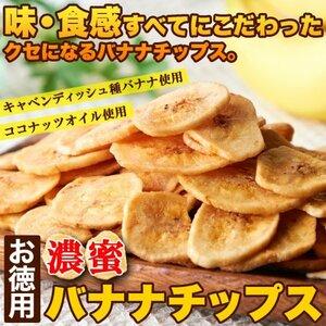 【複数購入推奨】サクっと軽く甘くて美味しい!!【お徳用】濃蜜バナナチップス500g≪常温便≫