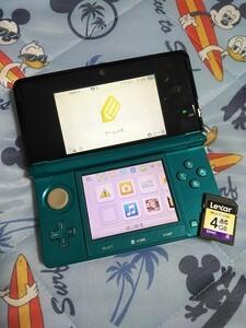 送料込み 任天堂3DS  マリンブルー