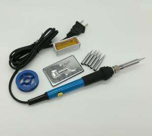 送料無料 ダイヤル式電子はんだごて はんだごてセット 松脂付き 新品 未使用