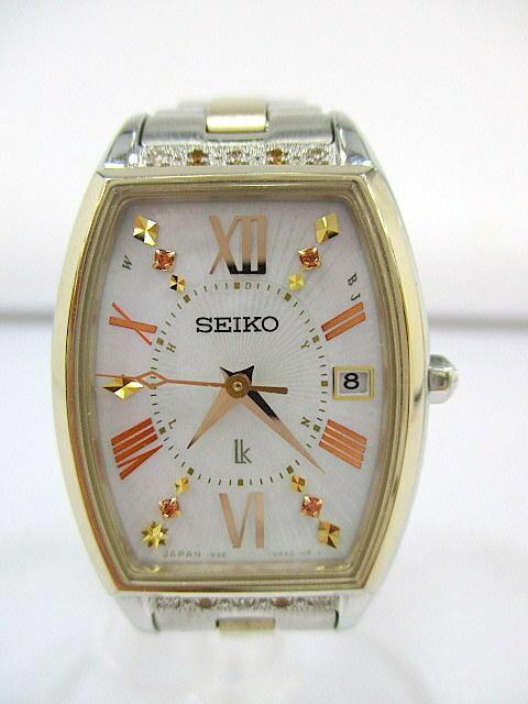 1円★ 美品 SEIKO セイコー ルキア LUKIA Satine ピエール エルメ 限定モデル SSVW152 1B32-0AH0 ソーラー電波 レディース 腕時計 稼働品