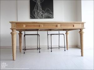 チーク総無垢 ダイニングテーブルEuntiN 食卓テーブル デスク 手作り 机 シンプル 新品 ナチュラル 送料無料 世界三大銘木 W150×D90cm