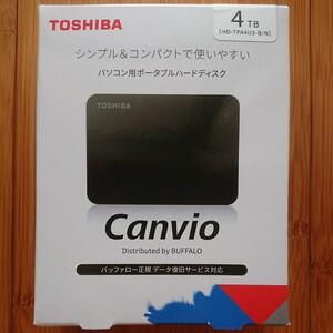東芝 ポータブルHDD 4TB HD-TPA4U3-B/N