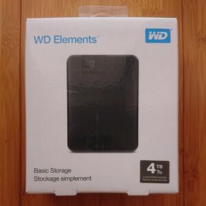 WD ポータブルHDD 4TB WDBU6Y0040BBK-WESN
