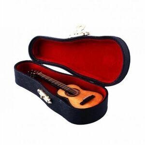 新品 激安!ミニ木製ギター 楽器モデル ミニチュア木材 エレキギター楽器ケース スタンドボックス装飾 KQ82