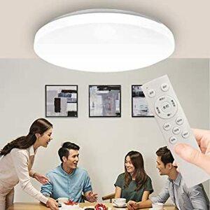 ZYH LED 薄型シーリングライト 6畳 8畳 33W 調光調色 高輝度3500LM リモコン付 常夜灯モード 天井照明 部屋