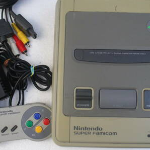 スーパーファミコン本体セット 電源コード/AVケーブル/コントローラー付属 169