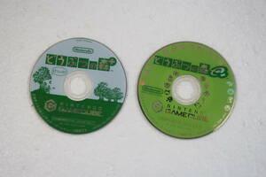 ゲームキューブソフト まとめて2個セット どうぶつの森+/どうぶつの森e+