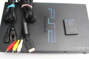 PS2本体セット SCPH-39000RC ブラック 電源コード/AVケーブル/メモリーカード付属 SONY純正動作品