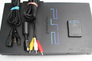 PS2本体セット SCPH-50000b クリアブラック 電源コード/AVケーブル/メモリーカード付属 SONY純正動作品