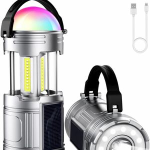 LEDランタン usb充電式 ソーラーランタン充電式 電池式 3 in 1給電方法 キャンプランタン 高輝度 軽量 防水