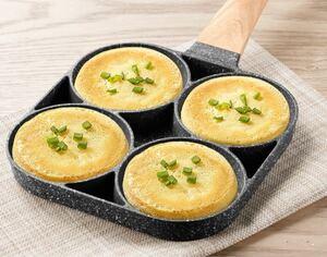 4穴フライパン パンケーキ IH ガス対応 家庭用 キッチン 目玉焼き 肉卵ハンバーガー鍋