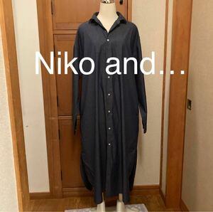 Niko and… ニコアンド ワンピース シャツワンピース デニム M 3