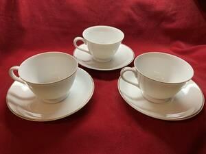 コーヒーカップ&ソーサー 3客セット