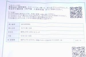阪神対中日最終戦10月26日 1塁アルプス席当日ワクチン接種本人確認などの照明が必要です雨天保証