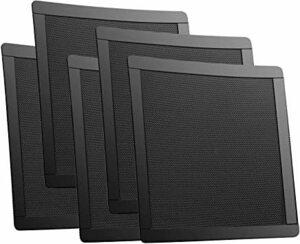 黒 PC ケースファン 140㎜用 防塵 マグネット グリル メッシュ ファン フィルター 5枚入り