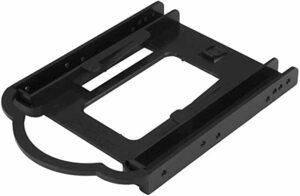 黒 1x 3.5インチベイ StarTech.com 3.5インチベイ対応1x 2.5インチSSD/HDD変換マウンタ 工具不要