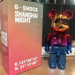 BE@RBRICK G-SHOCK SHANGHAI NIGHT ベアブリック MEDICOM TOY 400% メディコム トイ 面白い