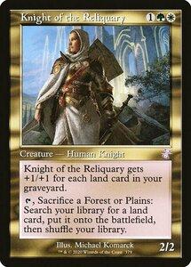MTG ■金/英語版■ 《聖遺の騎士/Knight of the Reliquary》▲旧枠▲ 時のらせんリマスタ- TSR