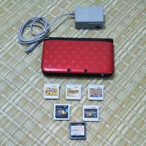 Nintendo 3DS LL本体Newスーパーマリオブラザーズ2仕様 ソフト6本セット
