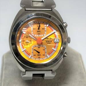 【5091】セイコーアルバ アカ SEIKO ALBA AKA V657-6030 クロノグラフ クォーツ メンズ 腕時計 動作保証付き!