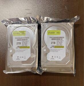 ホワイトラベルHDD 3.5インチ 2TB SATA 7200rpm 二台セット