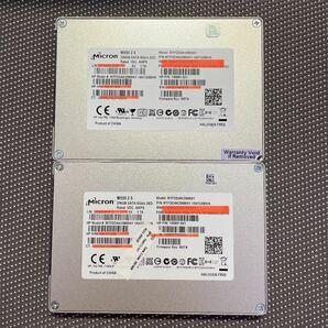 Micron SSD 2.5インチSATA 256GB/二枚セット使用時間4600.7659