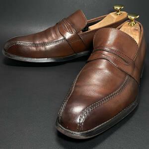 即決 REGAL リーガル コインローファー ダークブラウン 焦げ茶色 メンズ 本革 本皮 レザー 革靴 24cm ビジネスシューズ カジュアル B0844
