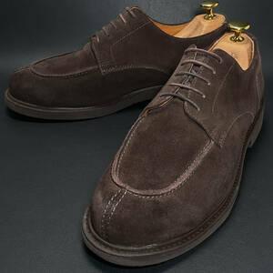 即決 HAWKINS ホーキンス Uチップ ダークブラウン 焦げ茶色 メンズ 本革 レザー 革靴 26.5cm ビジネス ドレスシューズ カジュアル B0842