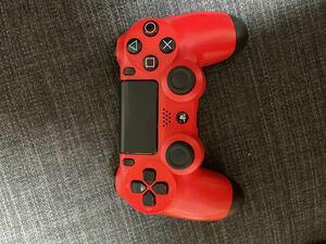 【ジャンク】 PS4コントローラー デュアルショック4 DUALSHOCK4 ワイヤレスコントローラー レッド 赤 SONY