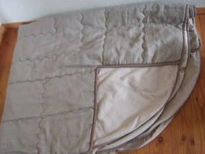 ニトリ;省スペースこたつ布団;長方形;ツイード風、茶色生地;洗濯機で丸洗い;コンパクトに収納