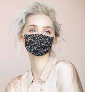 マスク 不織布 40枚 風邪 花粉 mask 3層構造 防寒対策 大人用マスク おしゃれ 使い捨てマスク ボタニカル柄 フェイスマスク