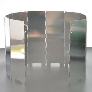 風除板 風除け ウインドスクリーン 折り畳み式 防風板 アルミ製 10枚 軽量 収納袋 付き
