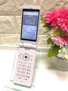 新品同様 SIMロック解除済☆ シャープ docomo AQUOS ケータイ SH-06G ホワイト A1866