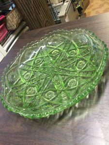 レトロフルーツ皿 レトロガラス 昭和レトロ