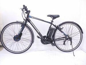 美車 BRIDGESTONE/ブリヂストン 電動アシスト自転車 TB1e(ティービーワンe) 27型 外装7段変速 E.Xブラック TB7B41 3P13AA0 § 631B6-1