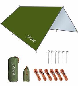 タープ 防水タープ キャンプ タープ たーぷ 紫外線カット 遮熱 軽量 日除け アウトドア ポータブル
