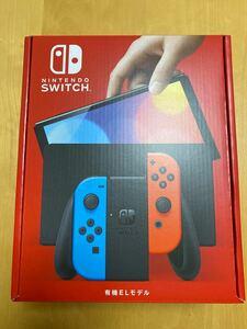 Nintendo Switch 有機ELモデル Joy-Con(L) ネオンブルー/(R) ネオンレッド 新品未開封 領収書付
