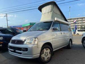 ◆札幌市◆4WD/車検付令和5年9月・ステップワゴン・デラクシー・フィールドデッキ・ポップアップルーフ付キャンピング@車選びドットコム